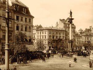 Warszawa, Plac Zamkowy, Stanisław Nofok‑Sowiński, 1914