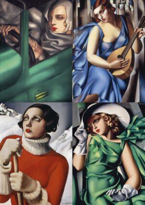 Tamara de Łempicka, plakat A3, 10 wzorów
