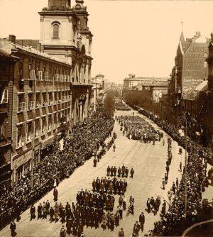 Manifestacja trzeciomajowa, Wacław Saryusz‑Wolski, 1916