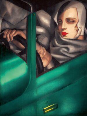 Tamara de Łempicka, Auto Portrait in Green Bugatti, 1929